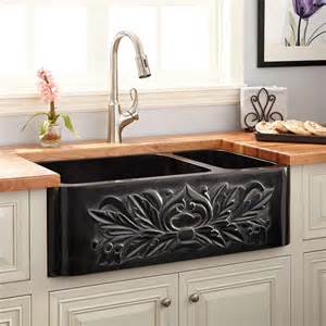 stone kitchen sinks 33 quot ivy 70 30 offset double bowl polished granite