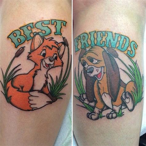 fox and the hound tattoo fox and the hound tattoos tattoos piercings