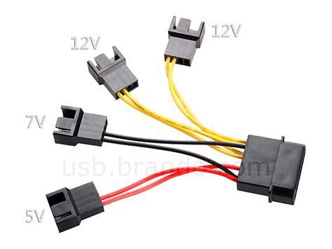 4 pin to 3 pin fan adapter 3 in 1 fan power cable
