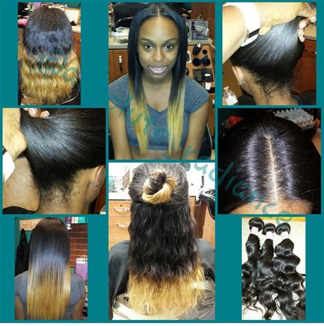 perm on leave out for sewin versatile sew in with minimal leave out and custom ombre