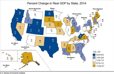 product map of texas bea gross domestic product by state