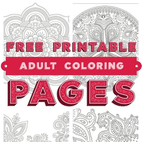 coloring books for adults techniques relaxation tips free coloring printable pages