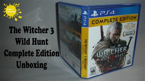 Kaset Ps4 The Witcher 3 Hunt Complete Edition the witcher 3 hunt complete edition ps4 unboxing overview