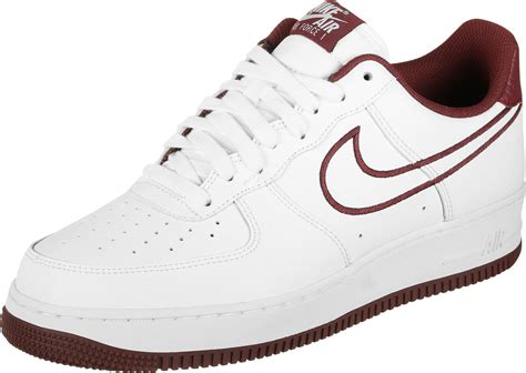 nike air force   leather chaussures blanc