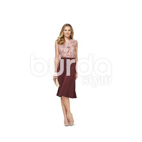 skirt pattern burda skirt with elastic waist flared shaped yoke burda