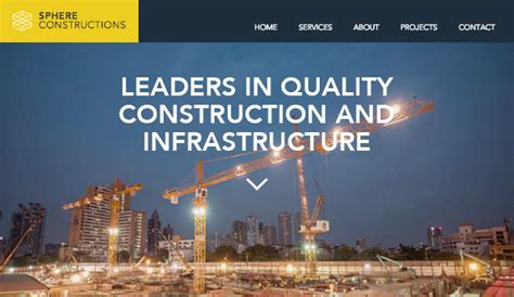 Services Maintenance Website Templates Business Wix Templates For Construction Companies