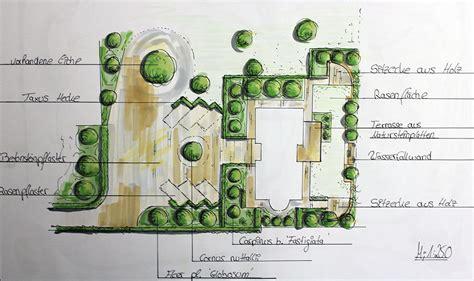 garten zeichnung gartengestaltung mit natursteinmauer in wesel galabau