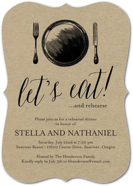 Dinner Invitation by Rehearsal Dinner Invitations Etiquette You Should