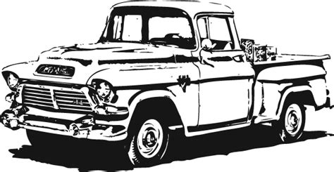 1950 s gmc pick up vector clip arts clip art