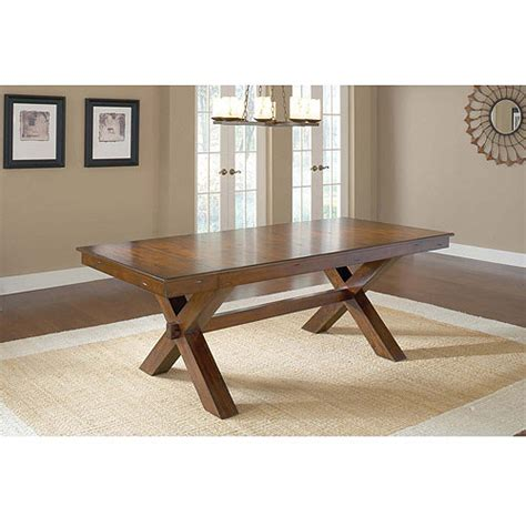 mission trestle dining table plans woodideas