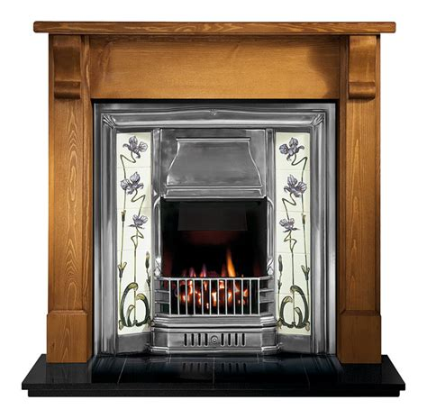 gallery bedford wood fireplace with sovereign cast iron