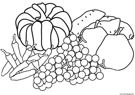 Fall Coloring Book Printable
