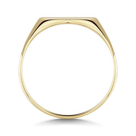 9ct yellow gold shape signet ring ladie s