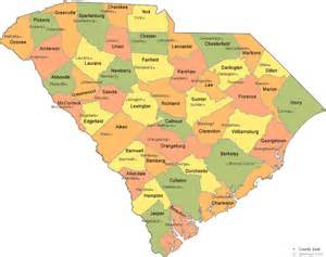 city map of south carolina map