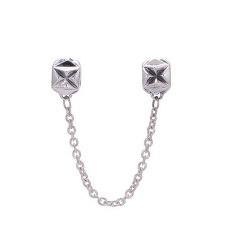 Origami Chain - origami safety chain fits pandora bracelet