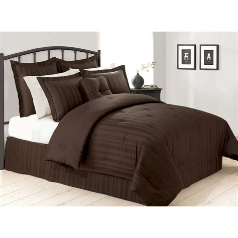 cannon comforter sets cannon chocolate dobby stripe comforter set home bed