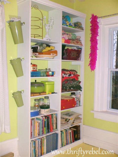 diy built in craft room bookcase thrifty rebel vintage