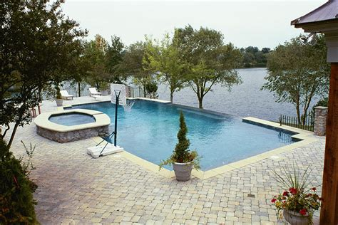swimming pool design stunning inground swimming pools design with lake view