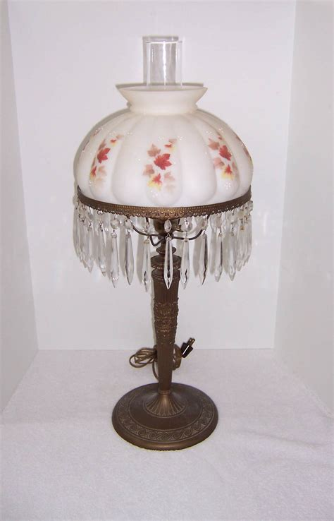 antique crystal table ls vintage crystal table l with prisms best inspiration