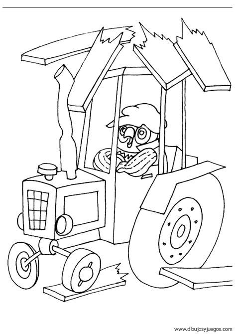 dibujo de tractor  colorear  dibujos  juegos