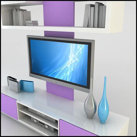 modern tv wall unit  model