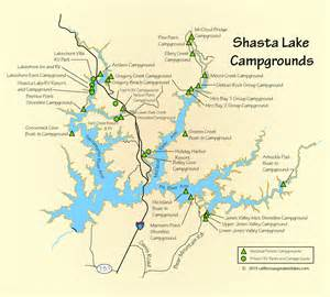 shasta lake cground and rv park map