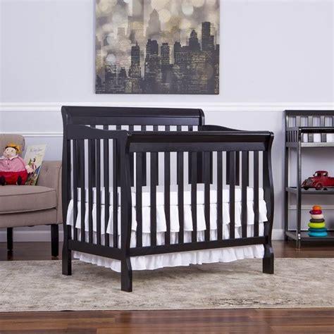 Mini Crib Vs Crib On Me Aden Convertible 4 In 1 Mini Crib In Black 628 K