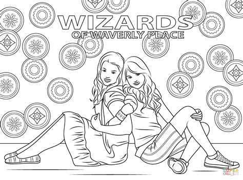 wizards of waverly place coloring pages for kids az