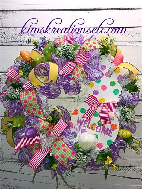 decorative wreaths for home easter wreath bunny wreath easter spring wreath easter