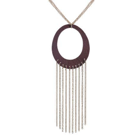 Zara Chain Brown zara terez genuine leather jewelry