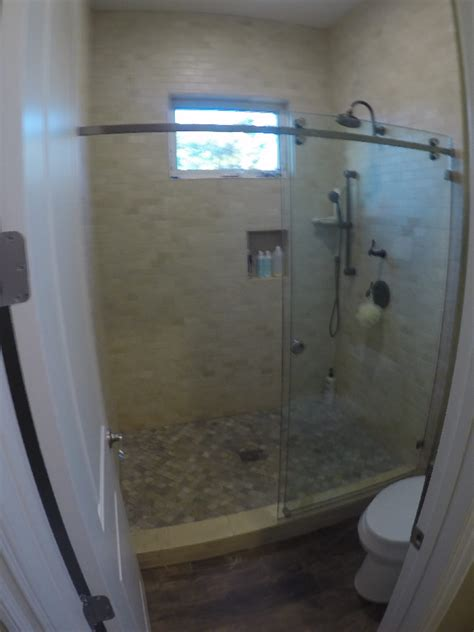 Installing Shower Door Sliding Glass Shower Doors Patriot Glass And Mirror San Diego Ca