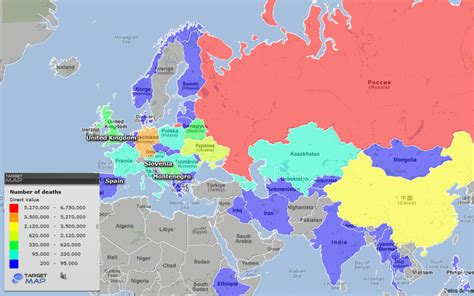 ww2 map world map of human losses of wwii by country targetmap