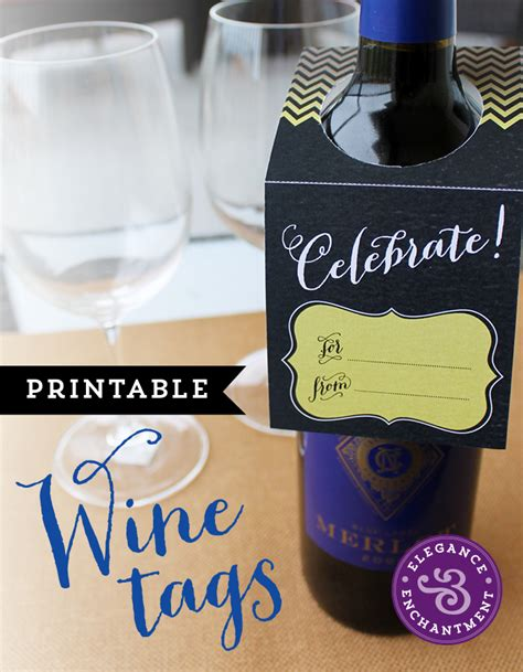 printable wine gift vouchers printable wine tags