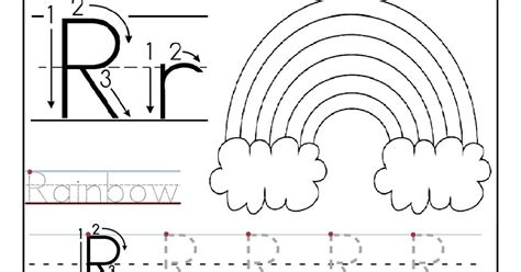 printable tracing letter r letter r worksheets for preschoolers 6 best images of