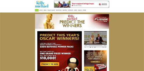 Live With Kelly And Michael Sweepstakes - live with kelly and michael predict the winners promotion