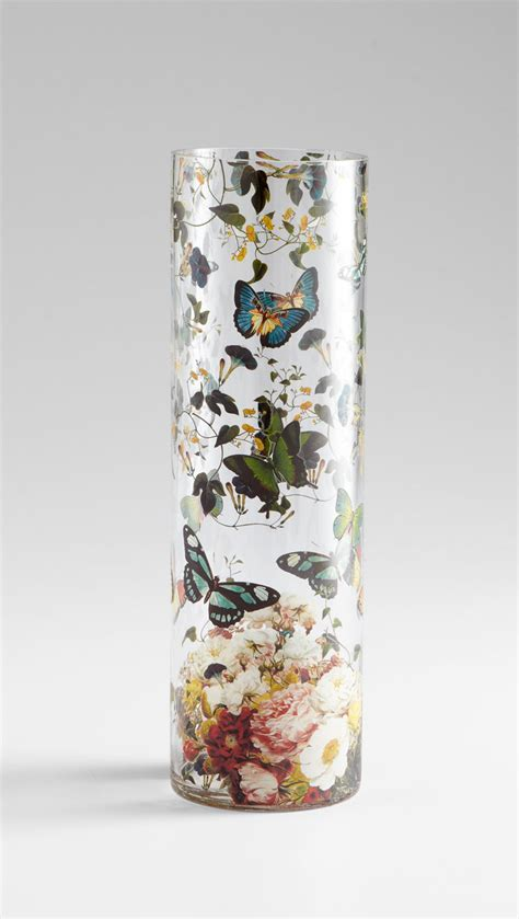 Butterfly Glass Vase by Large Butterfly Colorful Glass Vase By Cyan Design 47