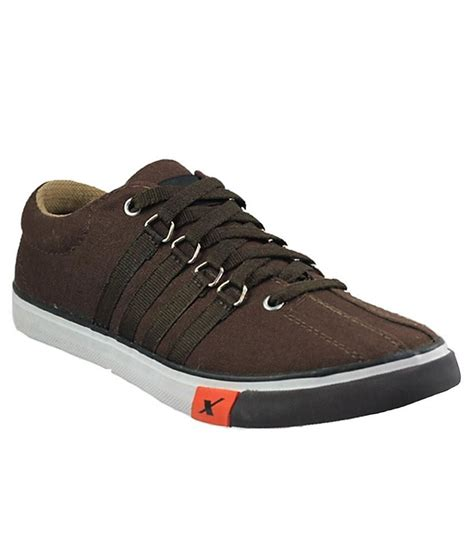 sparx brown canvas shoes best price in india as on
