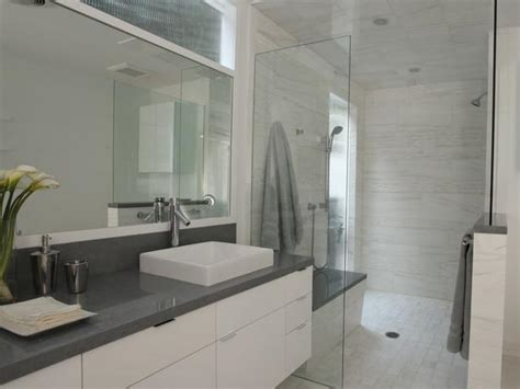 Grey Bathroom Countertops by Spacious Bathroom Hgtv