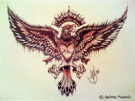eagle tattoo heart 25 best ideas about eagle chest tattoo on pinterest