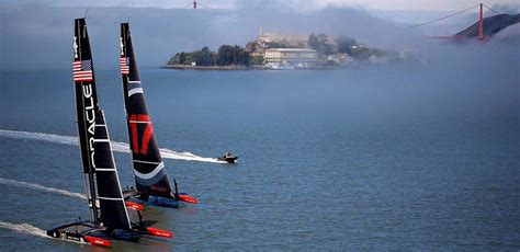 hydrofoil catamaran oracle billionaire death race inside america s cup and the world