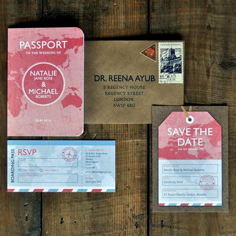 save the date passport template passport wedding invitation by feel wedding