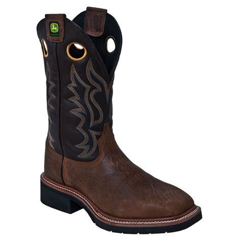 mens steel toe cowboy boots s deere 12 quot broad square toe steel toe western