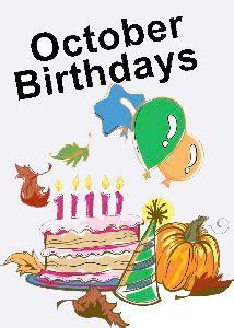 october birthdays clipart 40