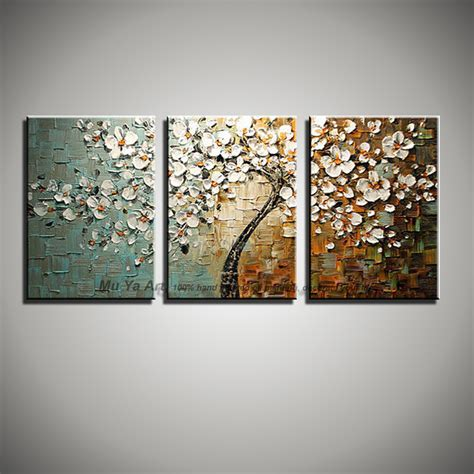 3 canvas wall aliexpress buy 3 wall modern paintings tree picture canvas painted knife