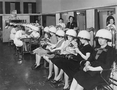 ladaires de salon hair dryers at millie s salon 6310 western avenue chicago 1950 the