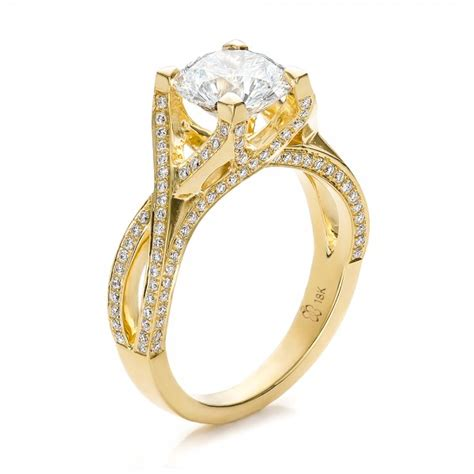 yellow gold engagement rings dazzling and fabulous