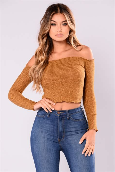 Top Mustard fabina shoulder top mustard