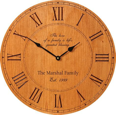 Family Love Personalized Wall Clock   Executive Gift Shoppe
