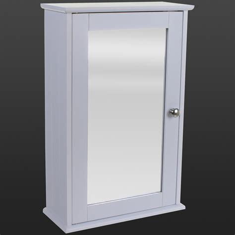 Single Door Wall Cabinet White Bathroom Wall Cabinet Single Mirror Door Wooden Cupboard Adjustable Shelf Ebay