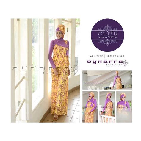 Bergo Valeria valerie kuning ungu baju muslim gamis modern